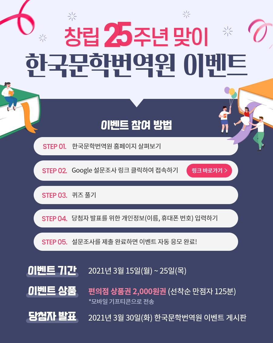 창립 25주년 맞이 한국문학번역원 이벤트